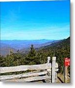 Top Of The Mountain In North Carolina Metal Print