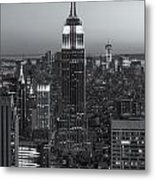 Top Of The Rock Twilight Vi Metal Print