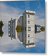Topsail Island Tower Reflection Metal Print