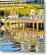 Topsail Sound At Sunset Metal Print