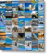 Topsail Visual Contemporary Quilt Series I Metal Print