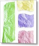 Torn Colorful Paper Metal Print
