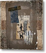 Torn Papers On Wall Number 3 Metal Print