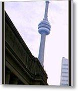 Toronto Cn Tower Canada Metal Print