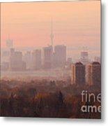 Toronto Foggy Sunrise Metal Print