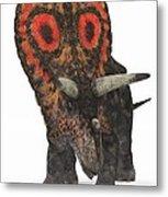 Torosaurus Dinosaur Metal Print