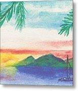 Tortola Sunset Metal Print