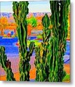 Totem Cactus Metal Print