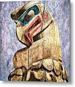 Totem Pole In The Pacific Northwest Metal Print
