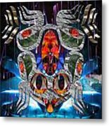 Touch Me As I Fall Into View Metal Print by Leslie Kell