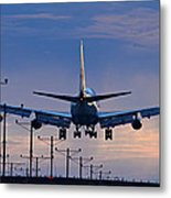 Touchdown In Sunset Palette Metal Print