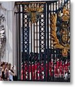Tourists At Changing Of The Guards Metal Print