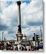 Tourists At Trafalgar Square Metal Print