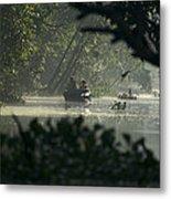 Tourists Exploring The Rain Forest Metal Print