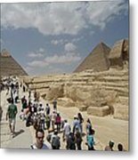 Tourists View The Great Sphinx Metal Print