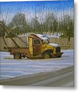 Tow Truck On Burgoyne Ave. Metal Print by Mark Haley