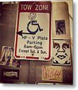 Tow Zone Collage Metal Print
