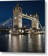Tower Bridge Dusk Metal Print