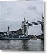 Tower Bridge Open Metal Print
