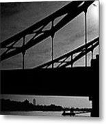 Tower Bridge Silhouette Metal Print
