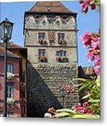 Tower In Old Town Rottweil Germany Metal Print by Matthias Hauser