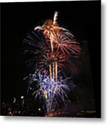Tower Of Fire Power Metal Print