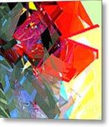 Tower Poly 17 Rose Metal Print