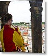 Tower Trumpeter - Prague Metal Print