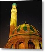 Towering Mosque In The Night Metal Print by Rick Frost