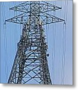 Towers And Lines Metal Print
