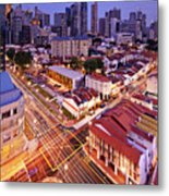 Towers And Shophouses Metal Print