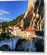 Town Of Sisteron In Provence France Metal Print