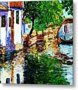 Town With Water Streets Metal Print