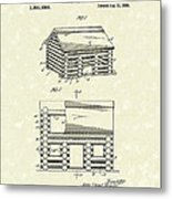 Toy Cabin 1920 Patent Art Metal Print by Prior Art Design