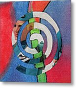 Toy Doll Spiral Metal Print