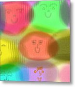 Toy Faces Metal Print by Rosana Ortiz