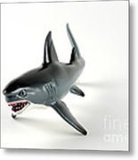 Toy Shark Metal Print by Photo Researchers, Inc.