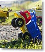 Toy Truck Planters Metal Print by Gordon Wood