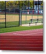 Track And Baseball Diamond Metal Print