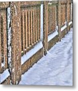 Tracks In The Snow Metal Print