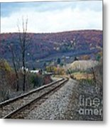 Tracks In The Valley Metal Print