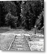 Abandoned Rails Metal Print
