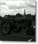 Tractor At The Flats Metal Print