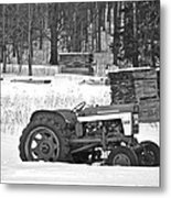 Tractor At The Mill  Metal Print
