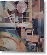 Tractor Engine Metal Print