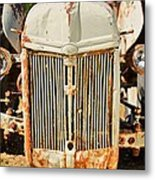 Tractor Face Metal Print