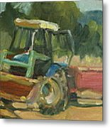Tractor In Italy Metal Print