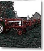 Tractor Row Metal Print