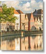 Traditional Brugge Buildings Metal Print
