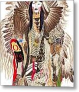 Traditional Pow-wow Dancer 1 Metal Print